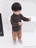 寶寶毛衣2019冬裝新款韓版男童加厚帥氣線衫韓版嬰幼兒洋氣打底衫 美芭