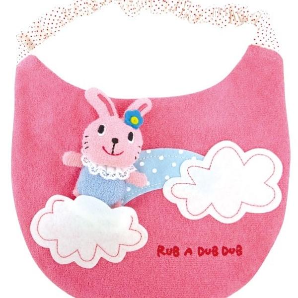 【日本製】【Rub a dub dub】幼童用寶寶玩具圍兜兜 藍色 SD-9090 - Rubadubdub