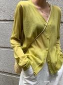 外搭薄款空調衫夏季防曬衫長袖v領針織開衫女上衣潮 歌莉婭