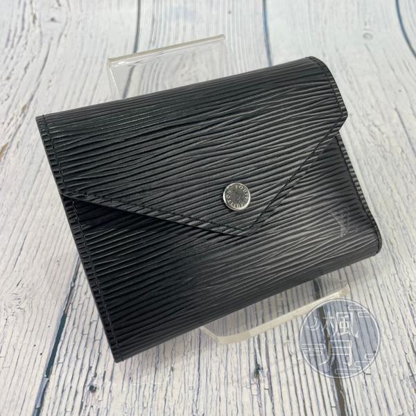 BRAND楓月 LOUIS VUITTON 路易威登 M62173 黑EPI VICTORINE 皮包 皮夾 短夾