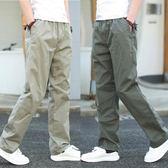 春季青年直筒運動長褲戶外休閒褲男大碼寬鬆工裝褲男褲多口袋褲子   夢曼森居家