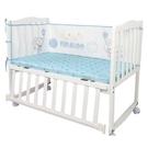 嬰兒床床圍ins網眼薄款防撞夏季透氣四季拼接床擋布床上用品套件 小山好物