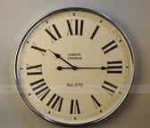 【協貿國際】現代時尚銀色大掛鐘鐘錶挂件