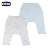 chicco-印花初生褲2入-藍