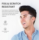 [拉拉百貨]全臉 面罩 防飛沫防唾沫 一體式防疫面罩 護目鏡 防護眼鏡 高清透明 防霧 全臉面罩