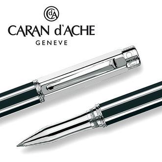 CARAN d'ACHE 瑞士卡達 VARIUS 維樂斯中國漆鋼珠筆(黑)銀 / 支