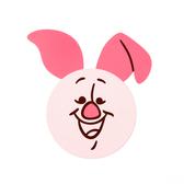 HOLA 迪士尼系列造型杯墊-小豬
