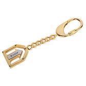 【BALLY】經典LOGO箭頭造形鑰匙圈/吊飾/配飾(金色) 090159