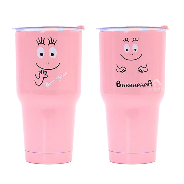 桃源戶外 Barbapapa 泡泡先生 冰霸杯 30oz(900ml) 冰壩杯 贈 杯蓋+杯架 1800004 (顏色款式隨機出貨)