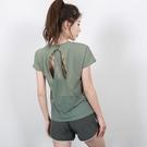 運動上衣 網紗運動上衣女寬鬆速乾衣跑步罩衫短袖健身T恤l露背瑜伽服夏-Ballet朵朵