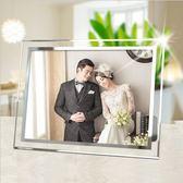 水晶玻璃相框擺台5寸6寸7寸8寸10寸A4影樓鏡框獎狀證書框照片相架   居家物語