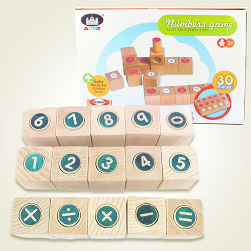 【瑪琍歐玩具】數字遊戲積木組/AC-1009