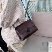鏈條包包女包潮時尚斜背包小包軟皮側背包【極簡生活】
