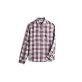 Gap男裝翻領格紋長袖襯衫528030-紅色