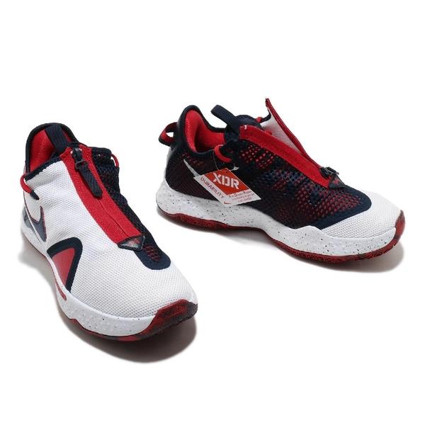 Nike 籃球鞋 PG 4 EP USA 白 藍 紅 男鞋 美國隊 Paul George 保羅 喬治【ACS】 CD5082-101