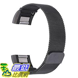 [美國直購] bayite 黑色 不鏽鋼手環 錶帶Replacement Bands for Fitbit Charge 2, Stainless Steel