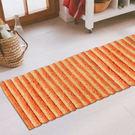 范登伯格 彩之舞 漸層條紋厚蓬地毯-橘30-50x180cm