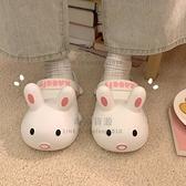可愛洞洞鞋女卡通兔子夏學生外穿防滑少女心包頭涼拖鞋【毒家貨源】