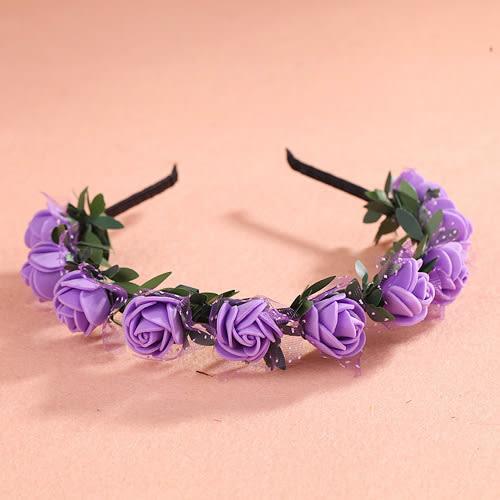 頭飾花環綠葉發箍發飾新娘花環攝影飾品韓國式兒童公主手環─預購CH1691