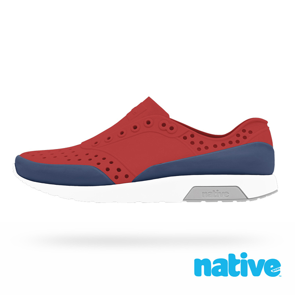 native 大童鞋 LENNOX 小雷諾鞋-紅x藍x灰