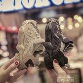 兒童男童鞋子2020年秋季新款春秋款網鞋透氣女童寶寶老爹運動鞋潮