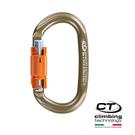 Climbing Technology O型鋁合金有鎖鉤環2C46400SYB /城市綠洲(鈦色、攀岩鉤環、義大利製造、鋁合金)