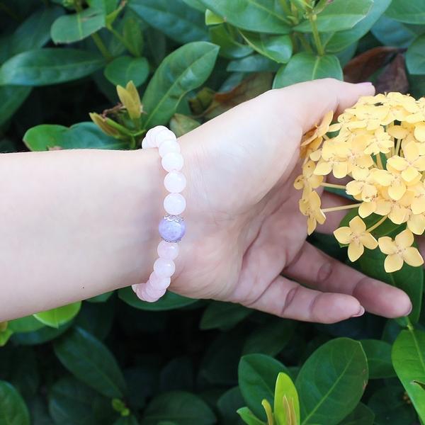 粉晶手鍊-設計師經典手創系列-甜蜜花園 石頭記
