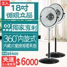 【狐狸跑跑】2入特惠組 台灣製中央牌 專利內旋式18吋基本款循環扇 KZS-1845CaP電風扇 電扇