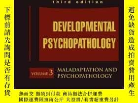 二手書博民逛書店Developmental罕見Psychopathology, Volume 3, Maladaptation a