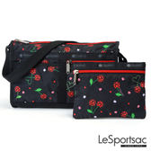 LeSportsac - Standard雙口袋斜背包-附化妝包(我的櫻桃) 7519P F089