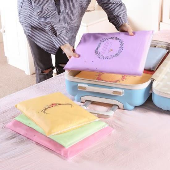 印花旅行拉邊收納袋(小號單入 ) 出差 旅行 拉邊袋 衣物 整理 【P634】♚MY COLOR♚
