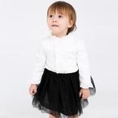 女童秋冬裝打底衫加絨加厚白色2019新款兒童襯身女寶寶長袖襯衫潮