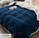 可拆洗雙人加厚保暖鋪蓋全棉被子8/10斤冬被雙面羊羔絨被芯帶被套 KV5054 『小美日記』