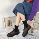 黑色皮鞋英式風平底小皮鞋女2020春夏季新款ins潮流鞋復古韓版百搭 HR346【極致男人】