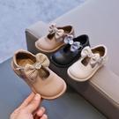 新款蝴蝶結女童皮鞋軟底公主鞋雛菊兒童豆豆鞋寶寶鞋【淘嘟嘟】