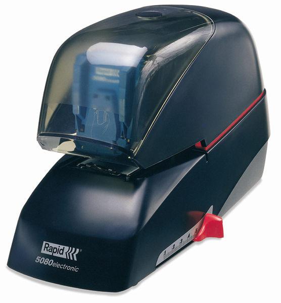 3C 事務資訊台銀採購館  瑞典 RAPID 5080 電動 釘書機 訂書機 可訂至80張 觸控啟動