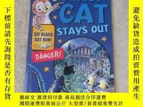 二手書博民逛書店Black罕見Cat Stays Out(Sails Saili