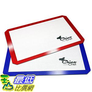 [美國直購] Silicone NA 烘焙墊 Baking Mat 2-Pk - Fits Half Sheets Blue Red colors