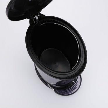 紐約緩降防指紋垃圾桶12L-紫