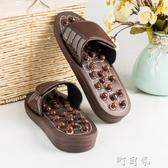 按摩拖鞋磁療玉石穴位足底足療鞋室內家用防滑涼拖鞋男女按摩鞋町目家