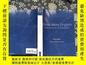 二手書博民逛書店know罕見more english from sentence