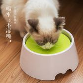 狗碗單碗喝水器不濕嘴喝水碗防濺水寵物飲水器不濕胡子狗狗水盆  雙12購物節