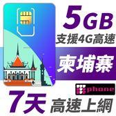 柬埔寨 7天 5GB高速上網 支援4G高速