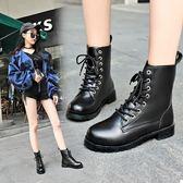 森雅誠品馬丁靴女英倫風短靴女學生日韓加絨保暖百搭機車靴子女冬