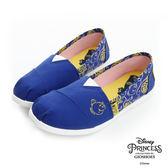 Disney 美女與野獸系列~玫瑰輕便懶人鞋-藍