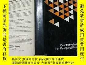 二手書博民逛書店quantitative罕見methods for manage