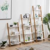 梯形置物架客廳臥室靠墻架北歐現代簡約落地墻角架書架花架多層架 js8135『小美日記』