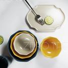 原點居家創意 簡棱系列平底立邊形盤 蔬菜水果盤點心盤 壽司盤 茶盤 簡約魚盤家用送禮 9.75吋三色