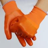 純膠pvc滿掛塗膠掛膠防水防滑耐油加厚全浸膠工作勞保手套  極有家