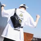 韓版街頭腰包時尚胸包斜背包/側背包休閒包小斜挎手機包男士單肩男包  一米陽光
